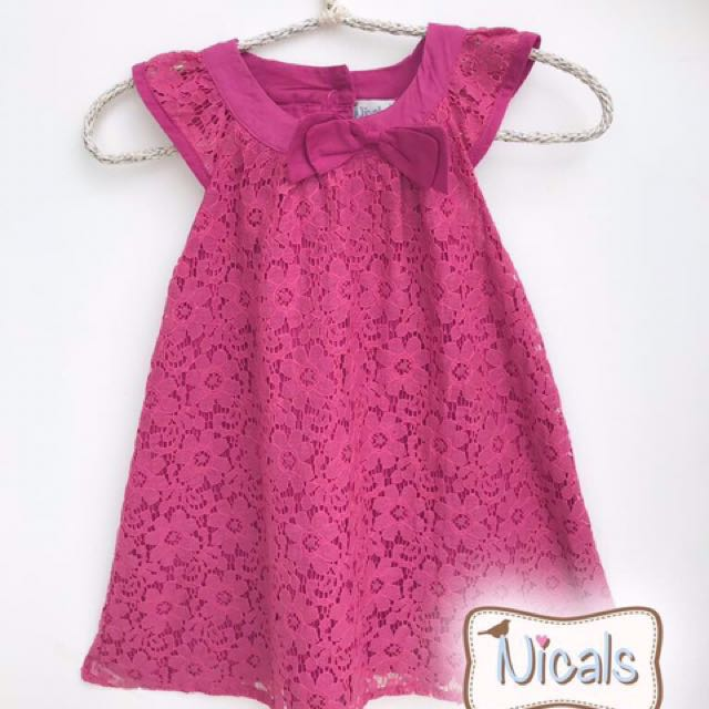 Dress pink brukat