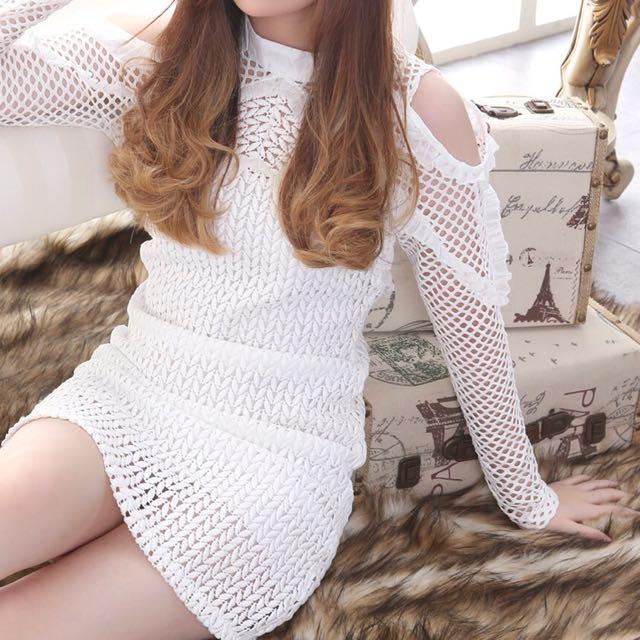 Dress putih premium