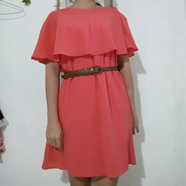 Dress Sabrina Peach Cape