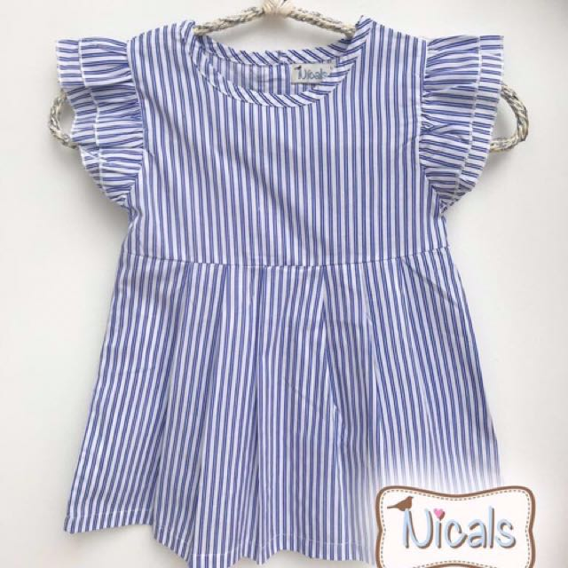 Dress stripes blue