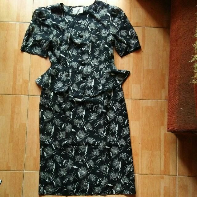 dress vintage black