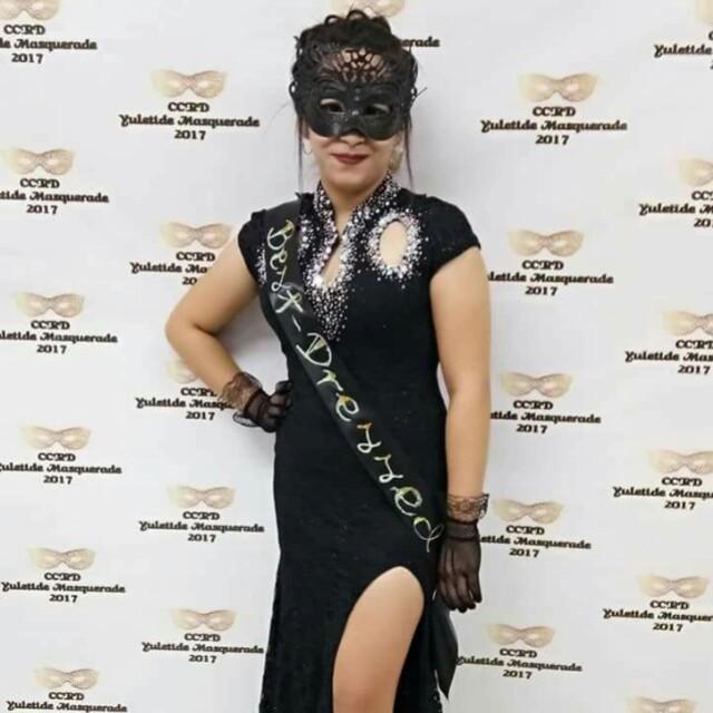 Elegant Gown (Black Dress) Masquerade Gown