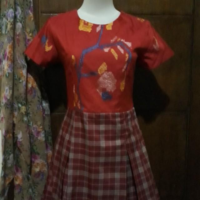 Etnik Motif Kombinasi Dress