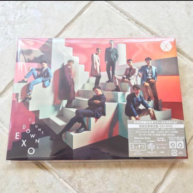 EXO Countdown Album (CD+DVD) First Press Version