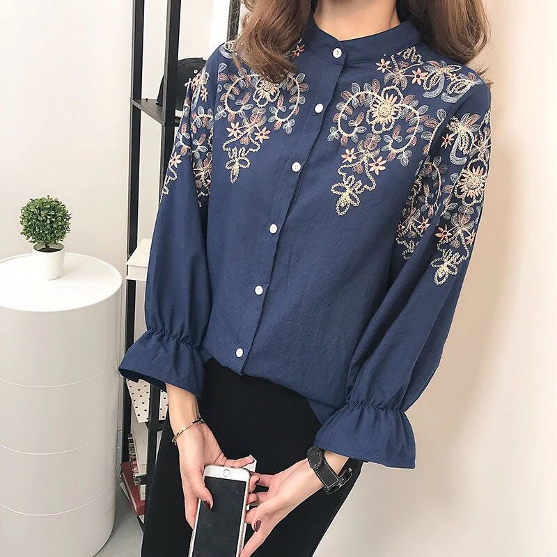 Floral Korean blouse