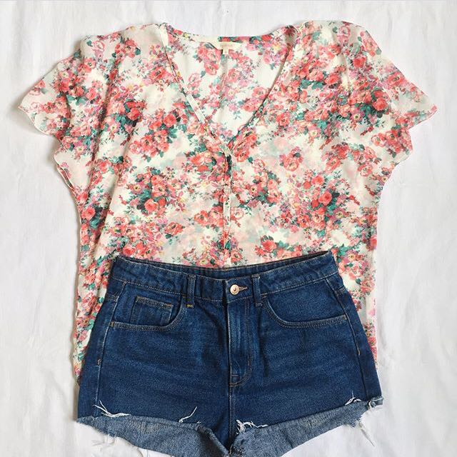 Floral See-through Top ❤️