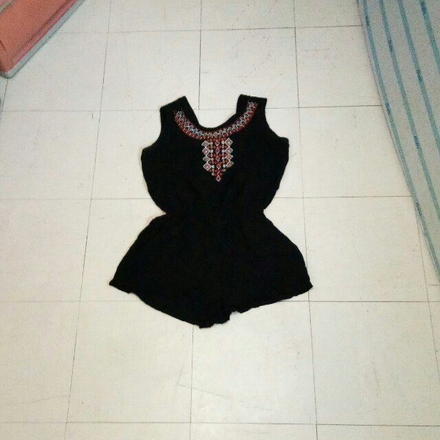 Free shipping - Black Romper (Small to medium size)