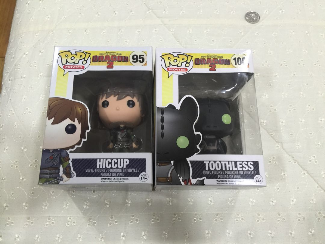 Funko Pop How To Train Your Dragon Hiccup and Toothless