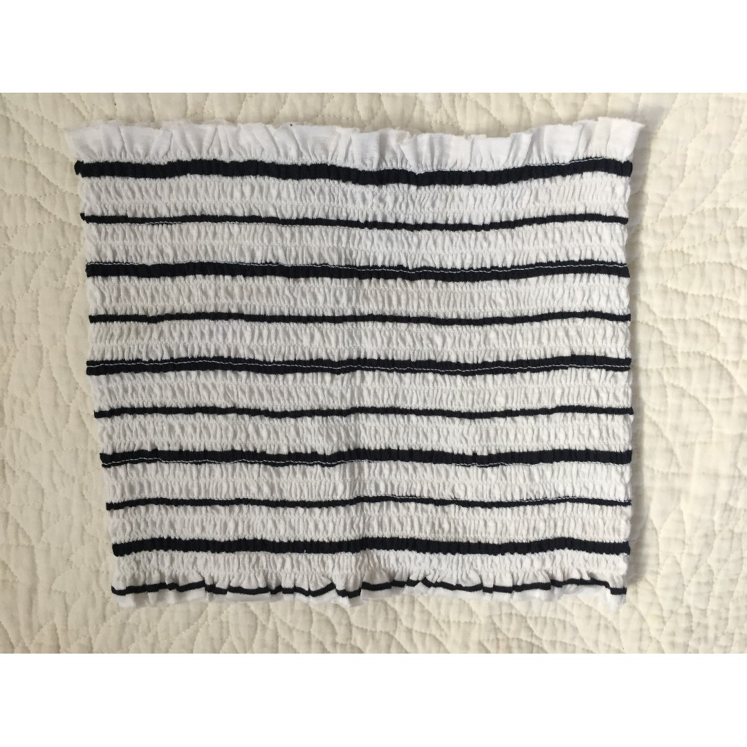 GLASSONS - STRIPED SHIRRED TUBE TOP