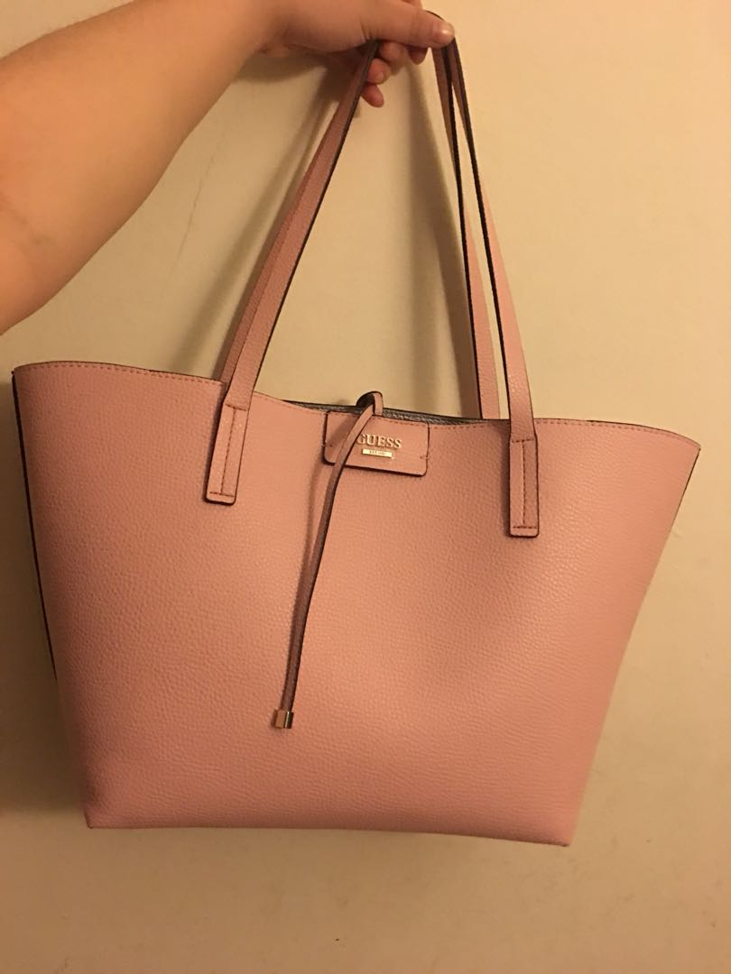 Guess Blush Pink Leather Tote Bag