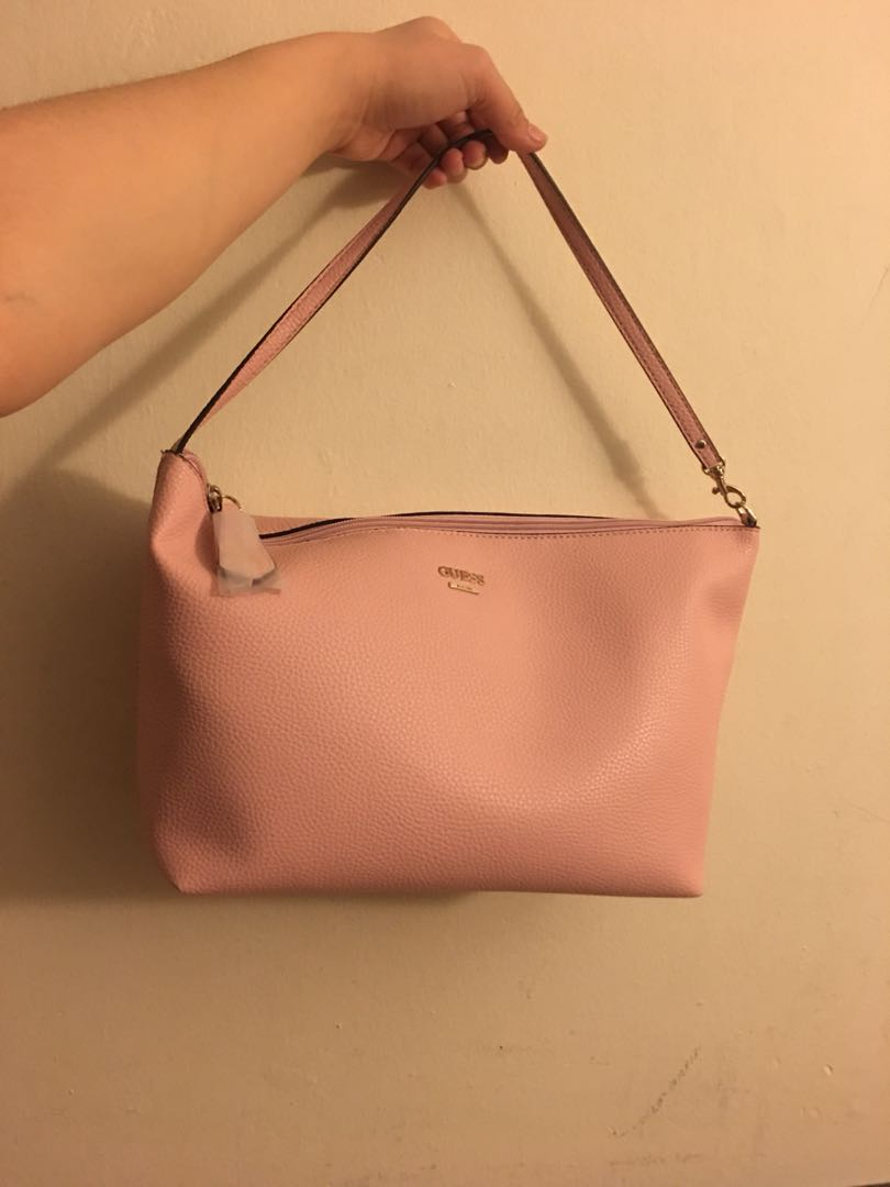 b71303fbef1c Guess Blush Pink Leather Tote Bag