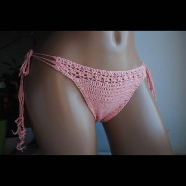 Hand knitted crochet bikini set size 8