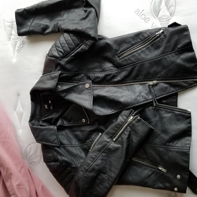 H&M leather jacket medium