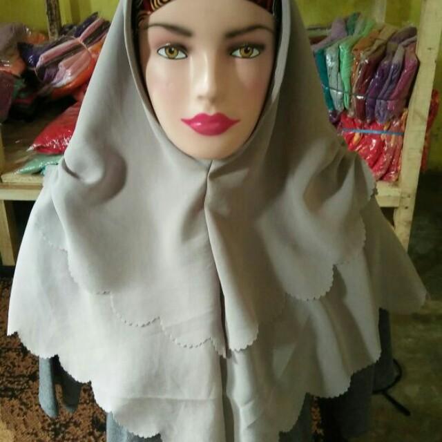 Jilbab instan layer