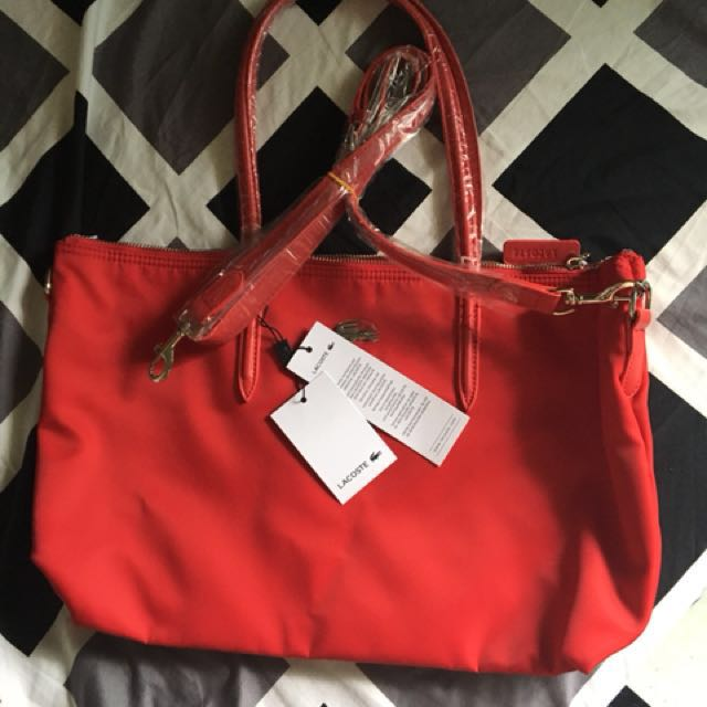 lacoste bag with sling overrun