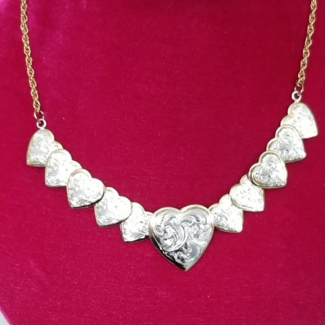 Like New Two Tone  Very Pretty Montana Silversmith Heart Necklace