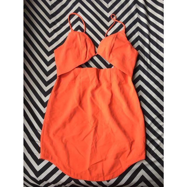 Lippy Cut-Out Dress
