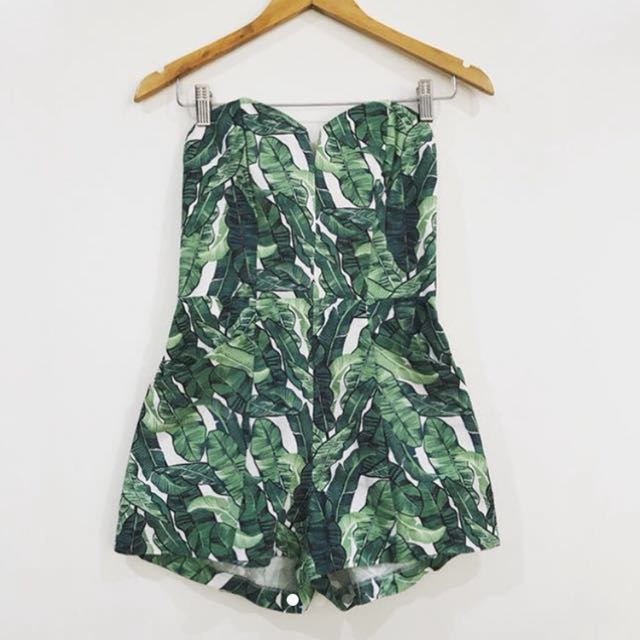 Looking for H&M Conscious Tropical Palm Print Romper