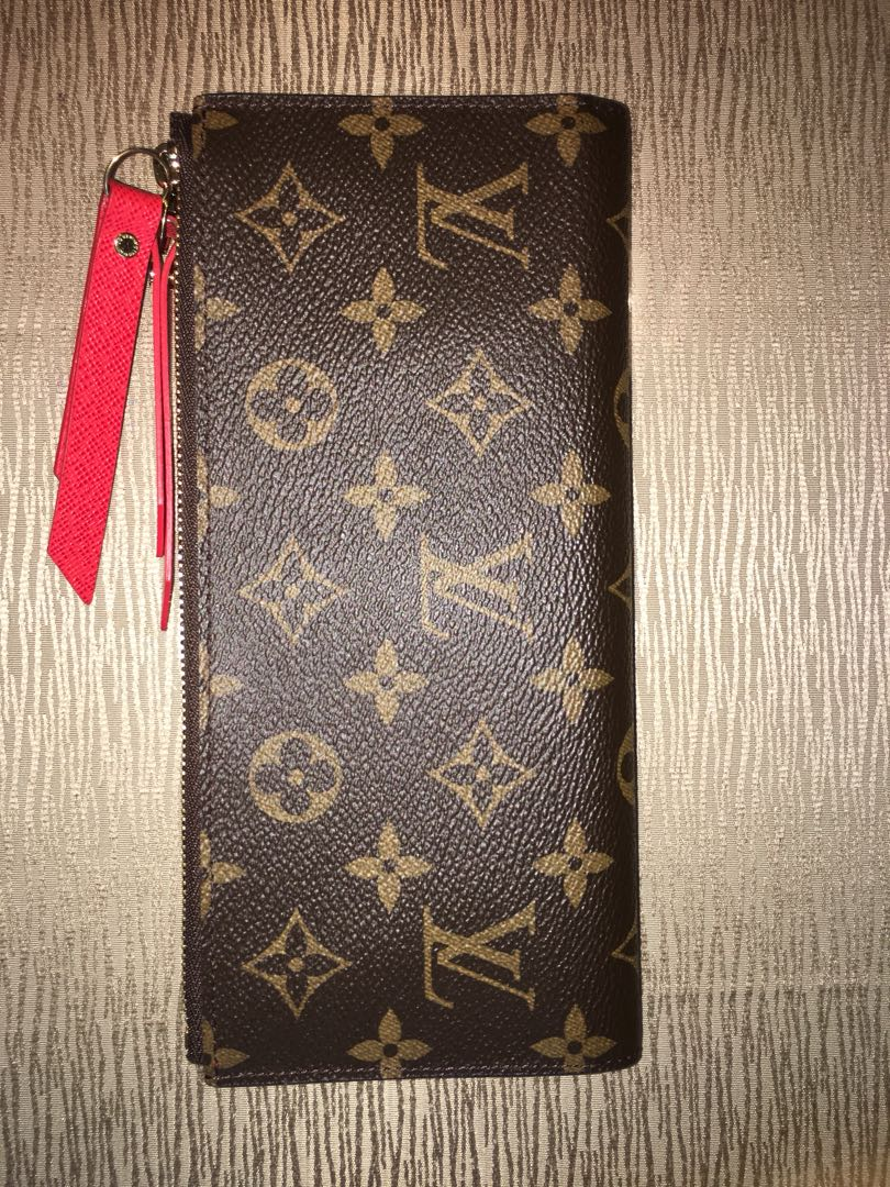 Louis Vuitton Adele Wallet Clutch with Coquelicot Interior