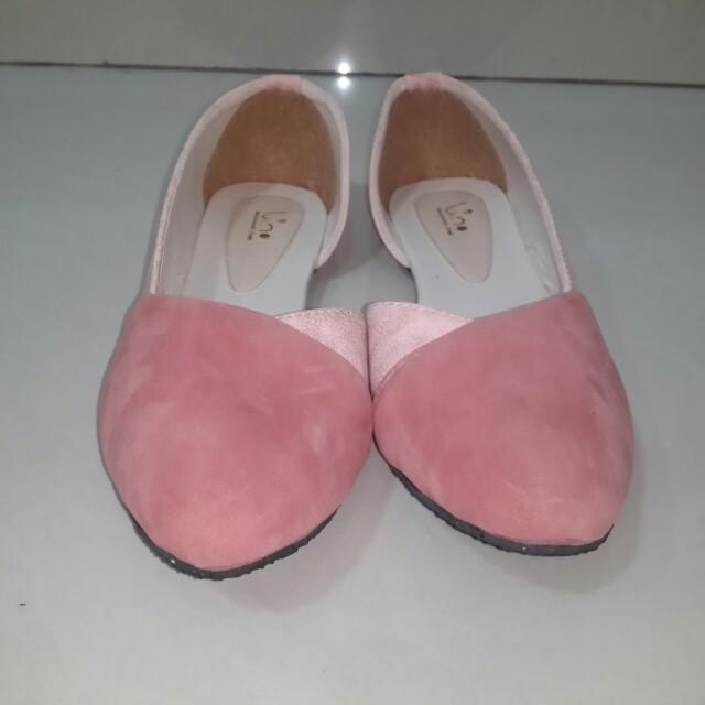 Luino Pink Flatshoes