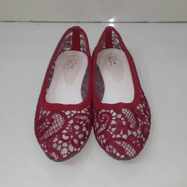 Luino red flatshoes