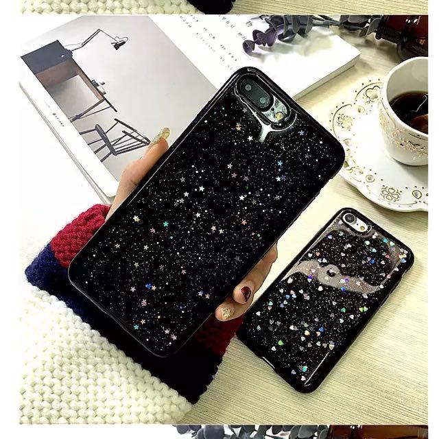 Luxury iPhone 6/6s black starry night case star sparkling