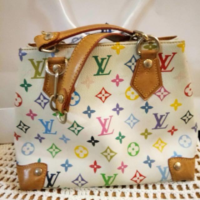 Lv multicolored hand bag