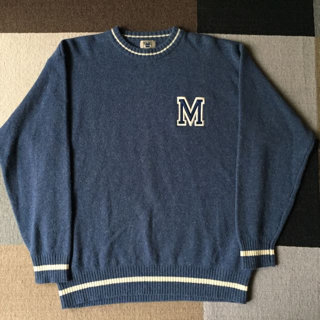 Mercurial 純羊毛衣 藍色 size:L