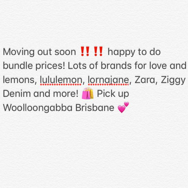 Moving out soon sale
