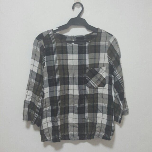 M&S Checkered Blouse