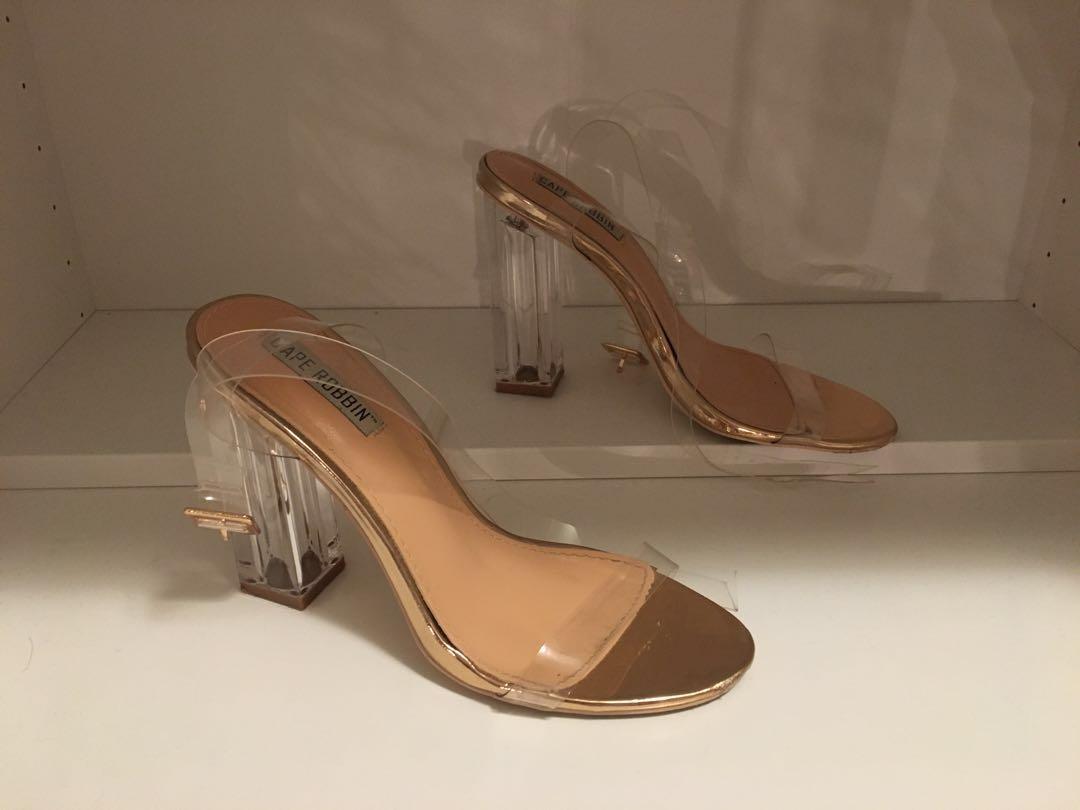 "Nasty Gal Cape Robbin Maria Heels ""Kim K"" Style size 7"