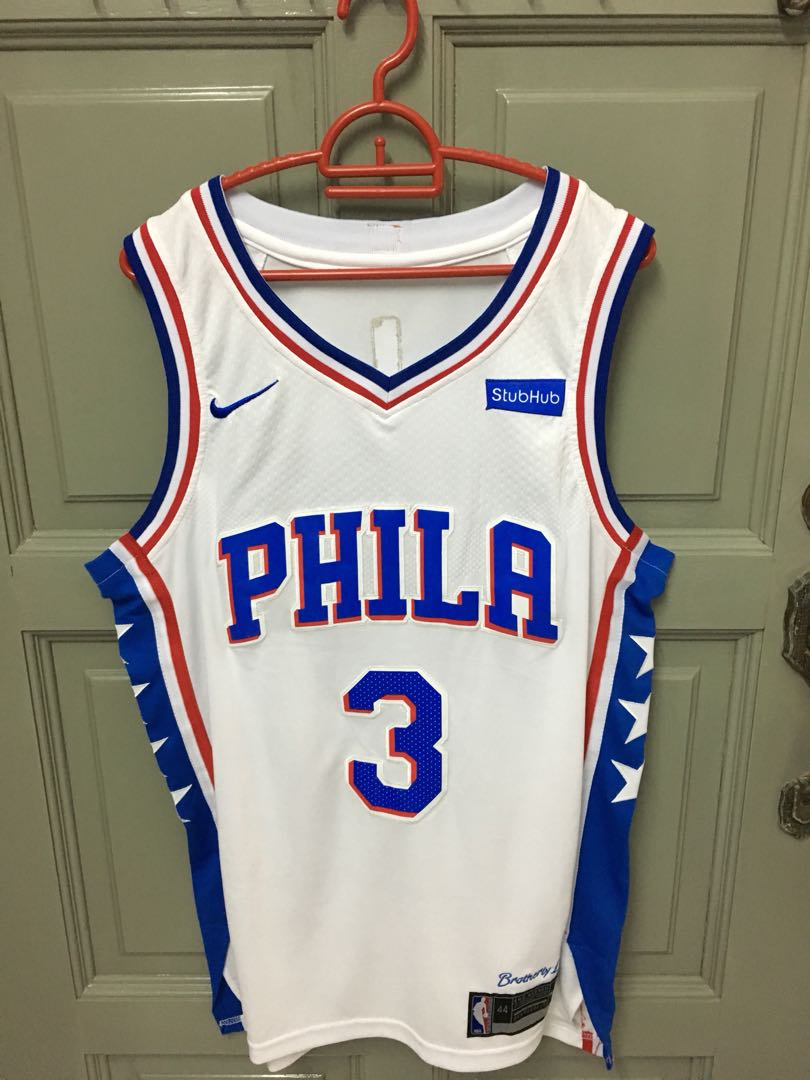 NBA NIKE PHILADELPHIA 76ERS ALLEN IVERSON BASKETBALL JERSEY