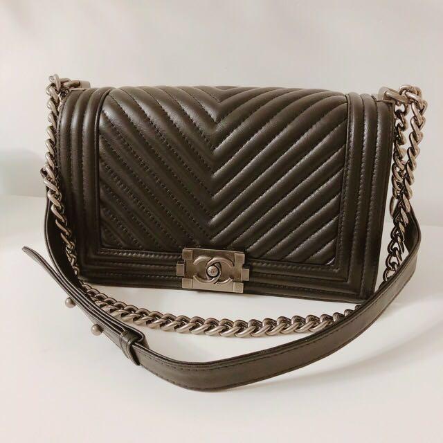 New Chanel Le Boy Bag Black SHW