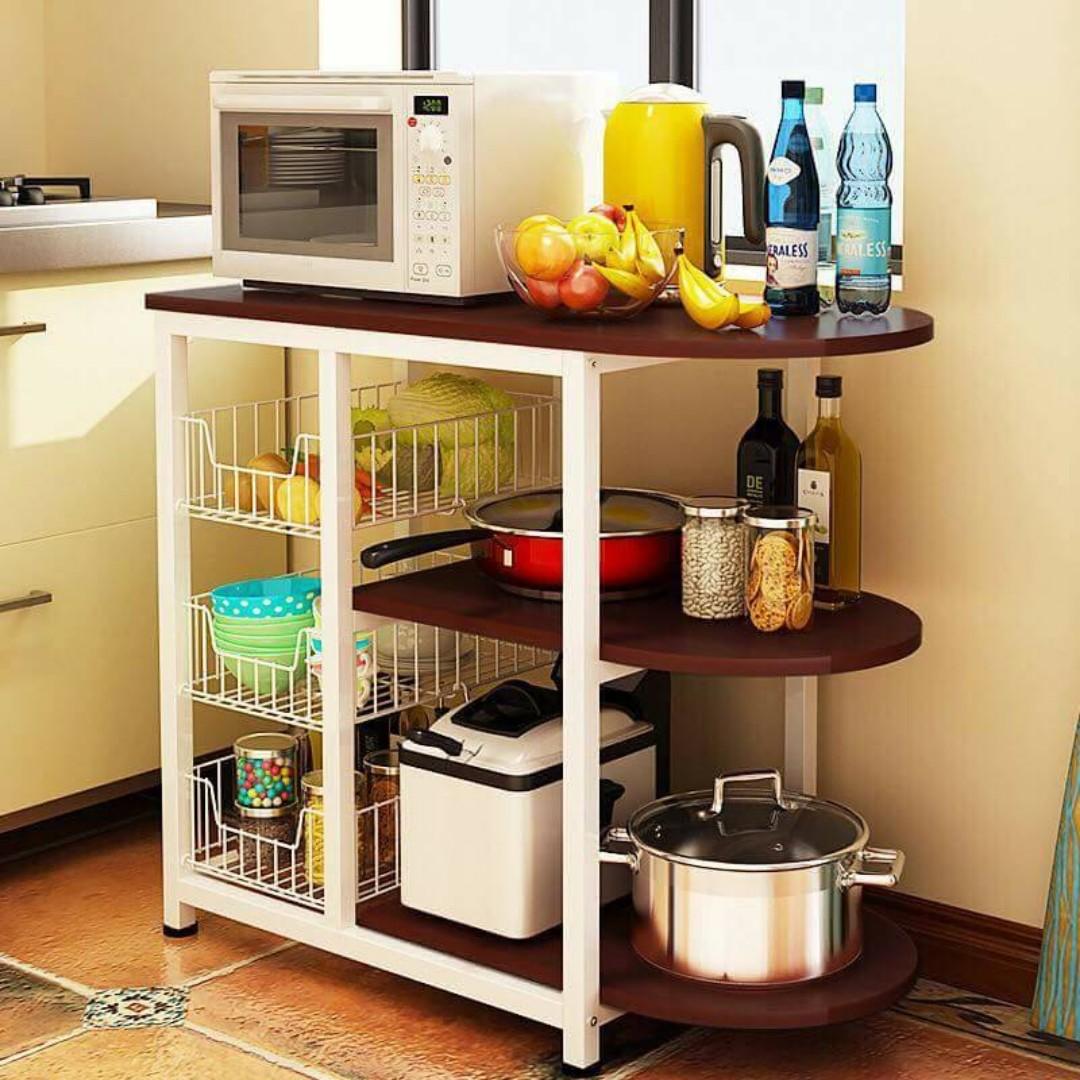 New Kitchen Island Multipurpose Storage Shelve