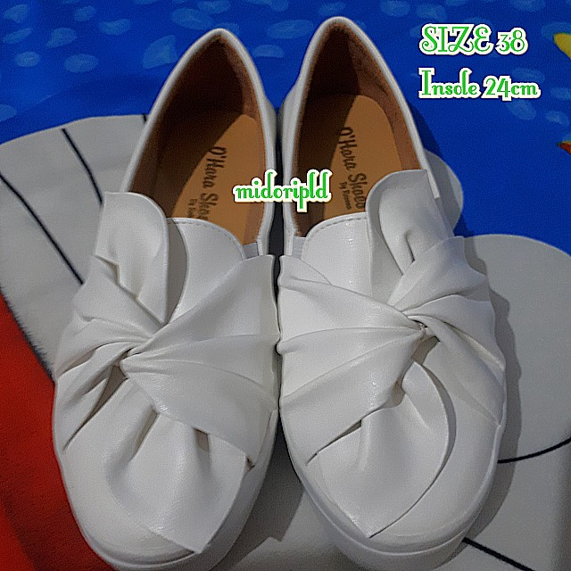 [NEW] White Bow Shoes - Size 38