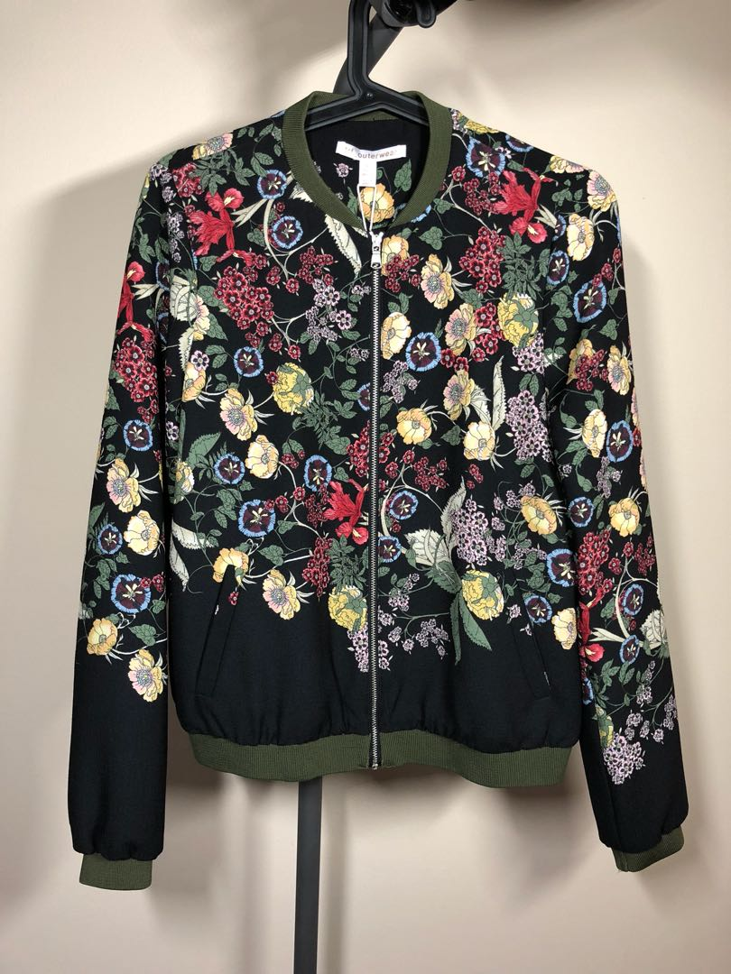 NEW WITH TAGS Zara floral bomber