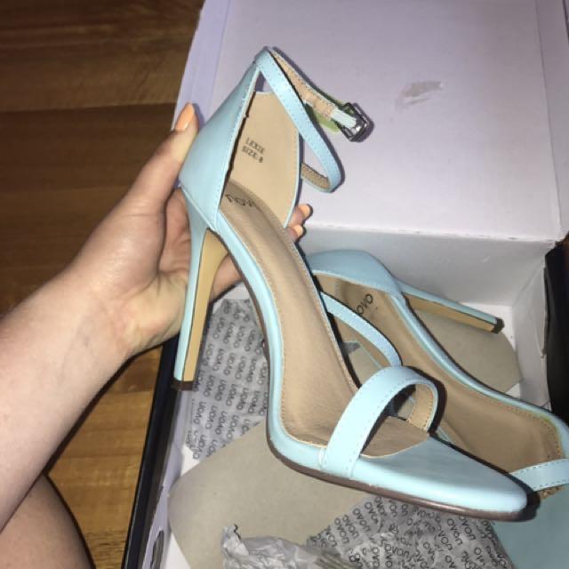 Novo Blue sandal heel