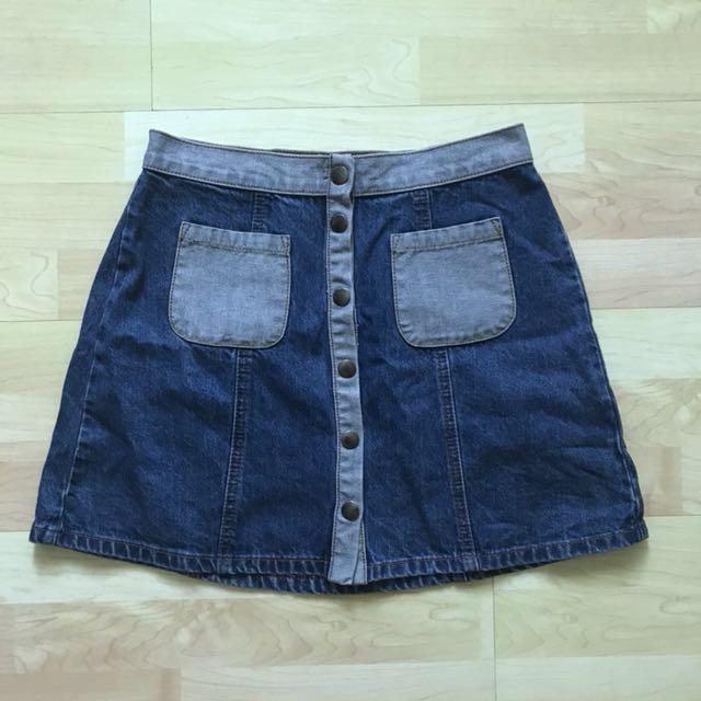 0770197ab0 NWT BDG Colour Block Denim Skirt, Women's Fashion, Clothes, Pants ...