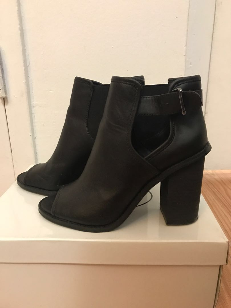 Open toe booties from F21