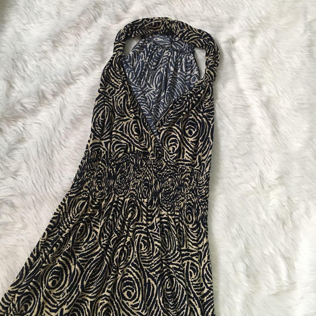 Paisley-print maxi dress/ maternity wear