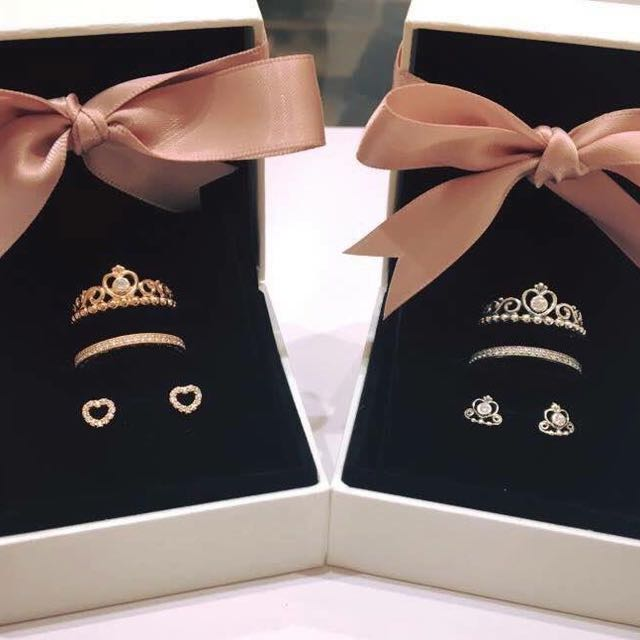 5a5a3d351 ... discount pandora rose princess tiara ring stack earrings studs womens  fashion jewellery on carousell 25e65 32517