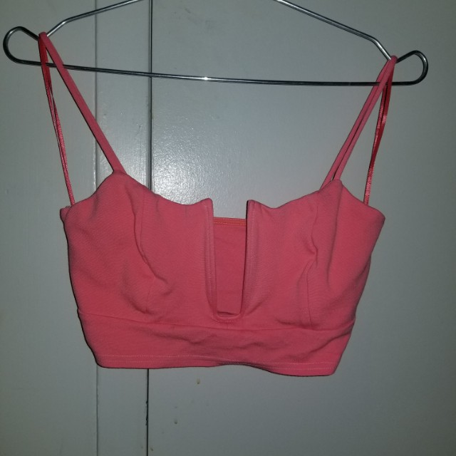 Pink Wired Cropped Top