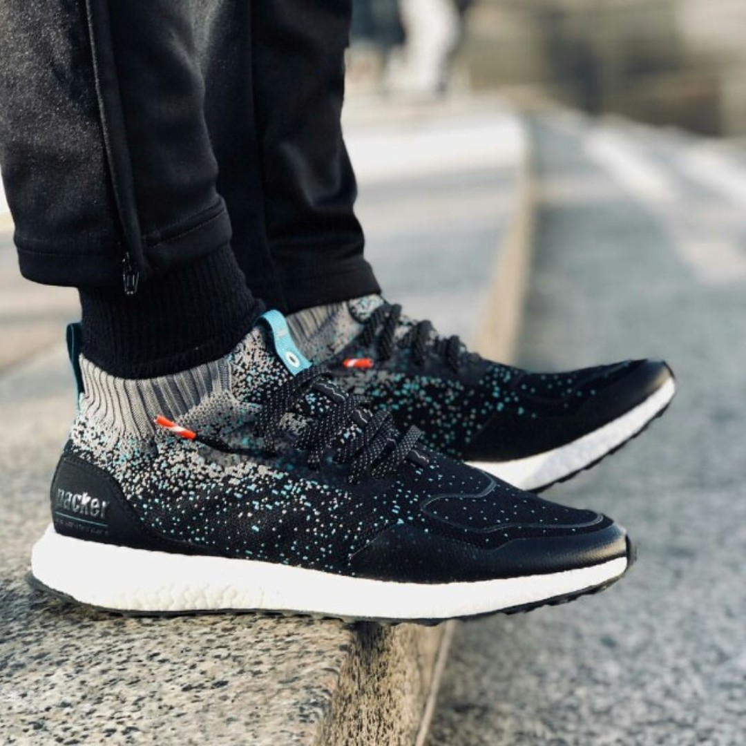 35d0bee13b1 (PO) Adidas Mens Ultra Boost Mid (Packers x Solebox Collab)
