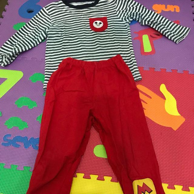 Preloved disney mickey pyjamas (12-18 months )