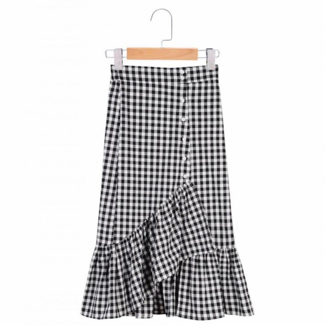 PREORDER Black Gingham Skirt