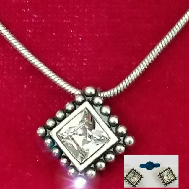 Preowned Authentic Brighton Necklace & Earrings Set