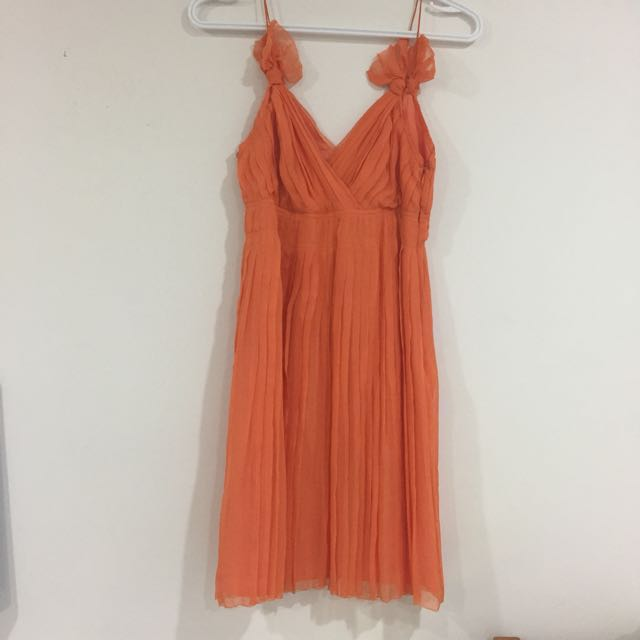 *price drop* Club monaco orange silk dress