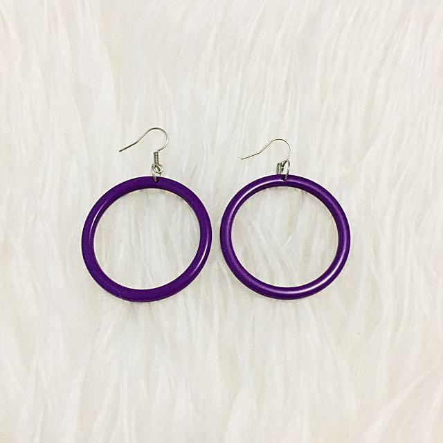 Purple Earing