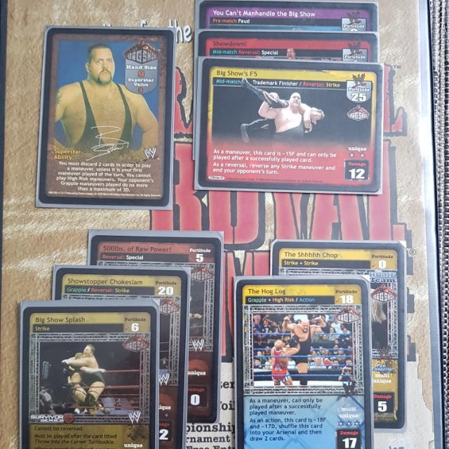 wts raw deal big show set toys games board games cards on