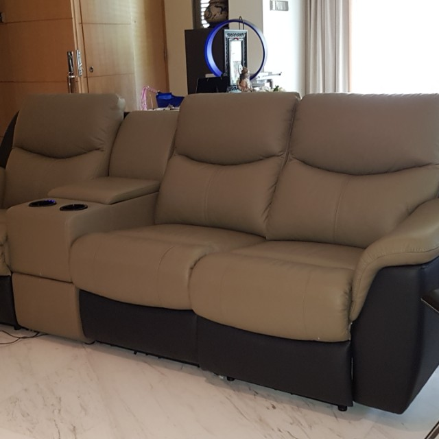 Reclining Sofa With Ice Cup Holder Sold